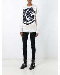 Sacai Natural Embroidered Sweatshirt