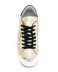 Philippe Model 'lakers' Metallic (grey) Classic Sneakers for men