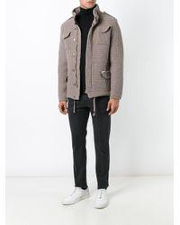 Bark - Gray High Neck Textured Jacket for Men - Lyst