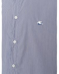 Etro Blue Striped Button-down Shirt for men