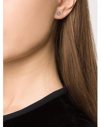 EF Collection - White Diamond Screw Stud Earring - Lyst