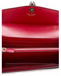 BVLGARI - Red Flap Elongated Wallet - Lyst