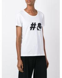 Karl Lagerfeld - Black Hashtag T-shirt - Lyst