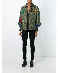 DIESEL - Blue Camouflage Print Jacket - Lyst
