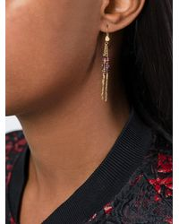 Natasha Collis - Metallic Diamond & Sapphire Rod Earrings - Lyst