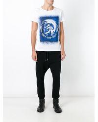 DIESEL | White Mohawk Print T-shirt for Men | Lyst