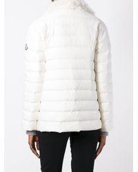 Moncler Gamme Rouge White High Neck Zipped Jacket