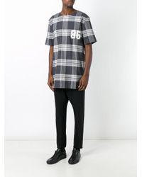 Helmut Lang | Gray Plaid T-shirt for Men | Lyst