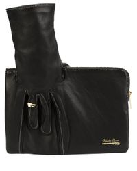 Undercover - Black Zipped Clutch - Lyst