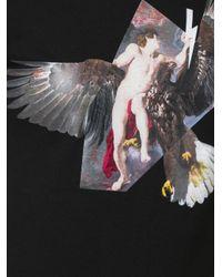 Neil Barrett Black Angel And Eagle Print T-shirt