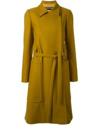 Rochas Multicolor Patch Pocket Trench Coat