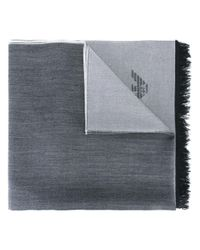 Emporio Armani | Gray - Classic Scarf - Men - Wool - One Size for Men | Lyst