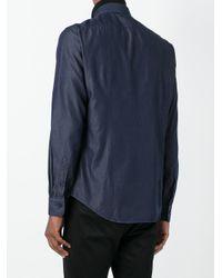 Jacob Cohen Blue Classic Button Down Shirt for men