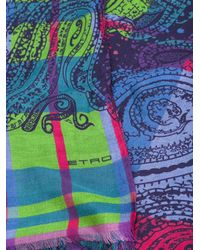 Etro | Multicolor Checked Paisley Print Scarf for Men | Lyst