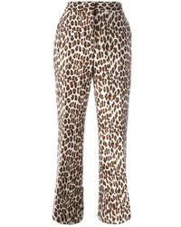 Stella McCartney | Brown Leopard Jacquard Trousers | Lyst
