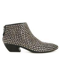 Marsèll | Black Stud Detail Ankle Boots | Lyst