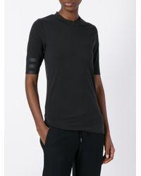 Y-3 - Black Three Quarter Sleeves T-shirt - Lyst