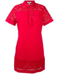 KENZO | Red Logo Print Shirt Dress | Lyst