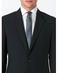 Lanvin Gray Cracked Pattern Tie for men