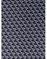 Lanvin - Black Cubic Print Tie for Men - Lyst