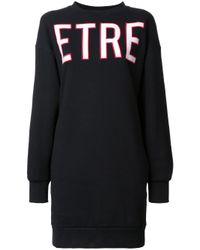 Être Cécile Black Être Cécile 'etre Terrestrial' Sweatshirt Dress