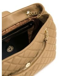 Love Moschino Brown Quilted Medium Shoulder Bag
