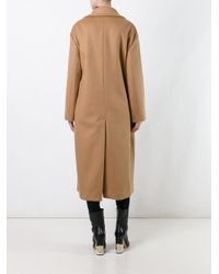 Anya Hindmarch - Brown 'ghosts' Oversized Coat - Lyst