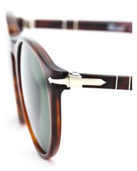 Persol Brown Round Shaped Sunglasses