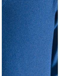 Loro Piana Blue V-neck Jumper for men