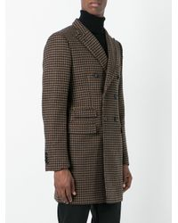Tonello - Brown Embroidered Coat for Men - Lyst