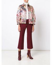 Burberry Metallic 'russet Brown' Jacket