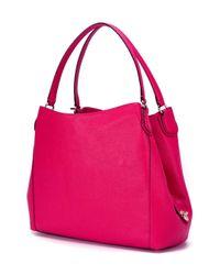 COACH Pink Edie Leather Shoulder Bag