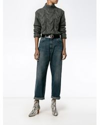 Golden Goose Deluxe Brand Blue Cropped Boyfriend Jeans