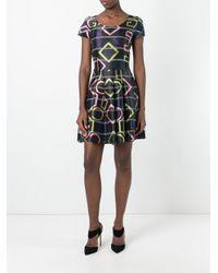 Emporio Armani Black Geometric Print Dress