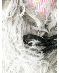 Charlotte Simone Gray 'muffin Tops' Shearling Collar