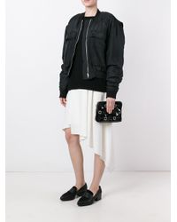 3.1 Phillip Lim | Black Embellished Zip Clutch | Lyst