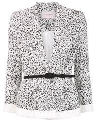 Carolina Herrera   White Dots Print Peplum Jacket   Lyst