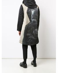 Undercover Black Hooded Parka Coat for men