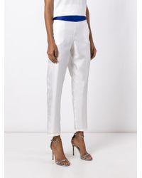 La Perla White 'opt Art' Straight Trousers