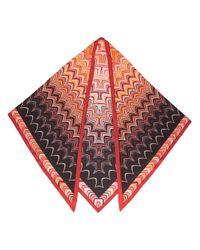 Missoni | Multicolor Scalloped Print Triangular Scarf | Lyst