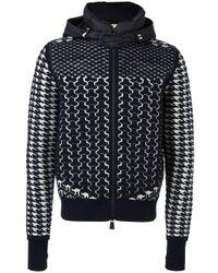 lyst moncler grenoble thermal hoodie in blue for men. Black Bedroom Furniture Sets. Home Design Ideas
