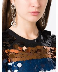 Sonia Rykiel - Metallic Long Link Earrings - Lyst