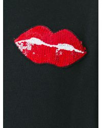 Au Jour Le Jour Black Lips Patch Sweatshirt