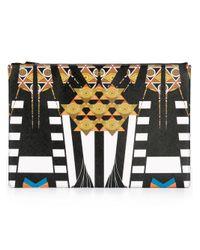 Givenchy Black Egyptian Art Deco Clutch