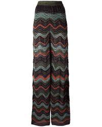 M Missoni Multicolor Scalloped Pattern Trousers