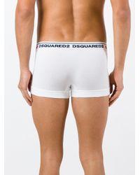 DSquared² - White Logo Boxers for Men - Lyst