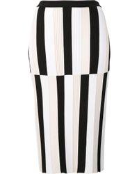 Derek Lam | White Striped Pencil Skirt | Lyst