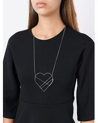 Seeme - Metallic Heart Necklace - Lyst