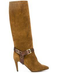 L'Autre Chose | Brown Buckle Detail Boots | Lyst