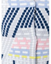 Peter Pilotto - Gray Geometric Wool-Blend Coat - Lyst